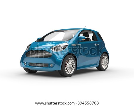 Small Modern Compact Car - stock photo