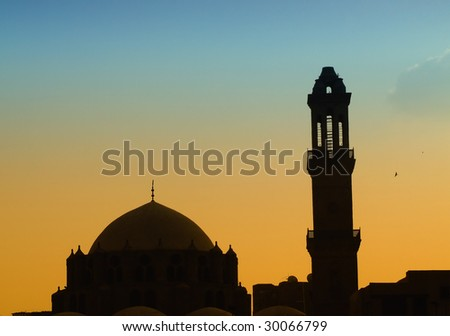 Small mosque in the centre of Cairo, Egypt