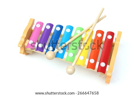 small music xylophone baby percussion instrument - stock photo