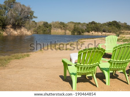 small natural lake, Nitsanim beach near Ashdod, Israel