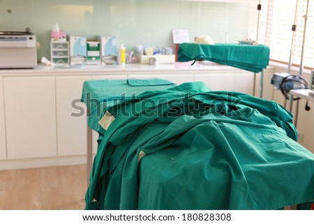 small operating room after operating finish - stock photo