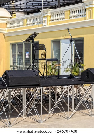 Small Outdoor Music Stage