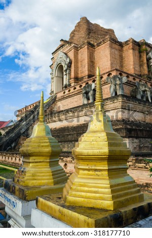 Small pagoda at Wat Chedi Luang in Chiang Mai, Thailand
