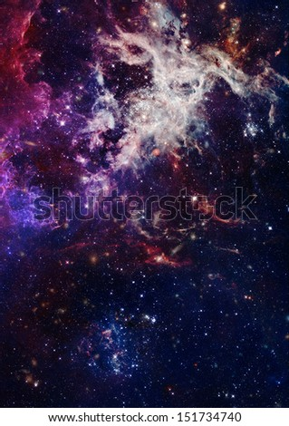Small part of an infinite star field of space in the Universe. - stock photo