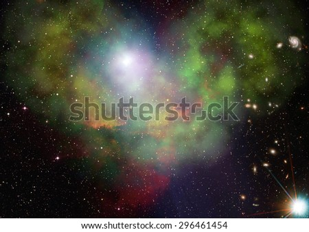 Small part of an infinite star field of space in the Universe. Elements of this image furnished by NASA. - stock photo
