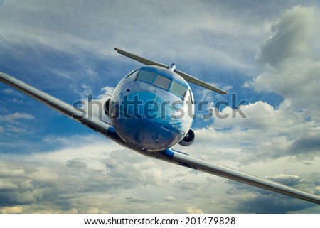small passenger plane - stock photo
