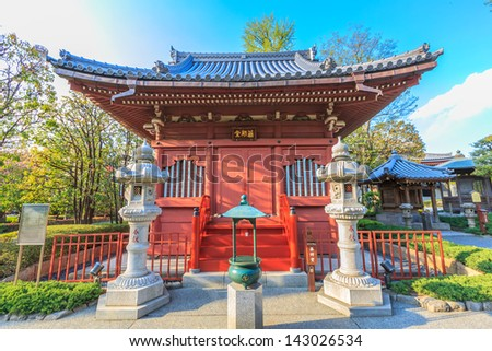 small pavilion in senso-ji temple - stock photo