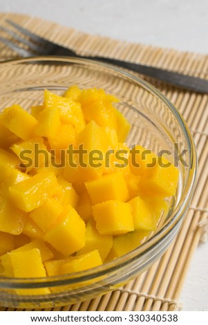 small pieces of mango
