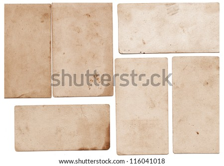 Small pieces of vintage paper - stock photo