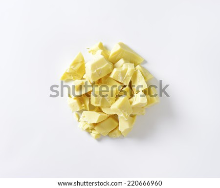 small pieces of white chocolate - stock photo