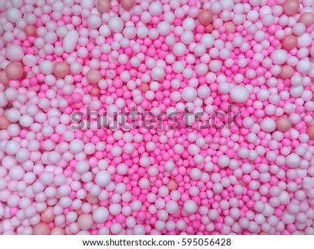 small pink and white polystyrene beads background - Polystyrene Beads