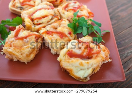 Small Pizza Rolls - stock photo