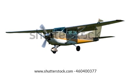 Small plane isolated on white background