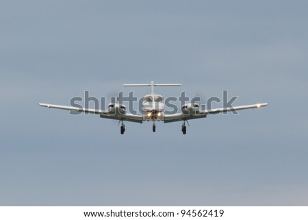 Small plane on approach - stock photo