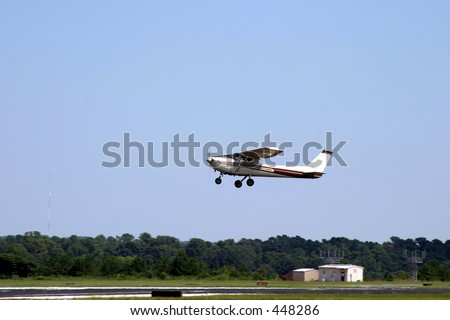 Small Plane Taking Off at a Local Airport