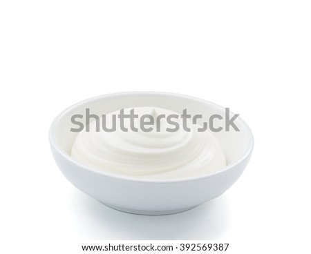 Small pot of mayonnaise, isolated,