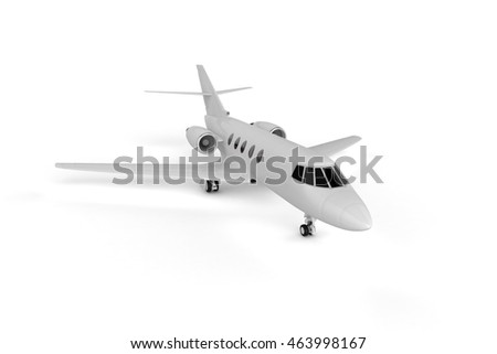 Small Private Airliner - Background Mockup 3D illustration