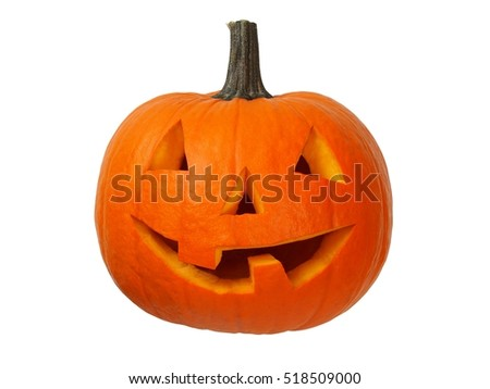 Small pumpkin isolated on white background