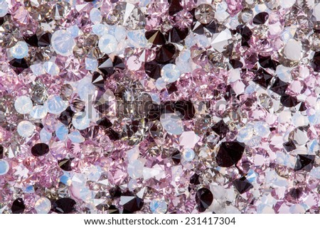 Small purple gem stones, luxury background - stock photo