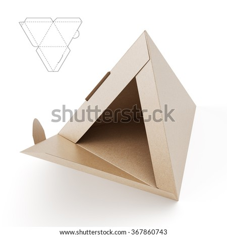 Small Pyramid Box Die Cut Template Stock Illustration