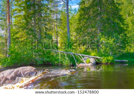 Small river in Russia
