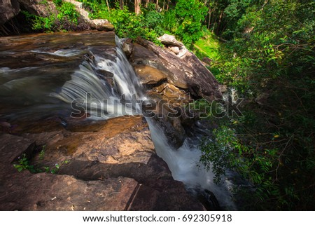 Small river waterfall