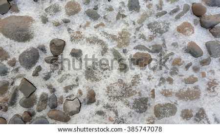 Small rock and ice crystals
