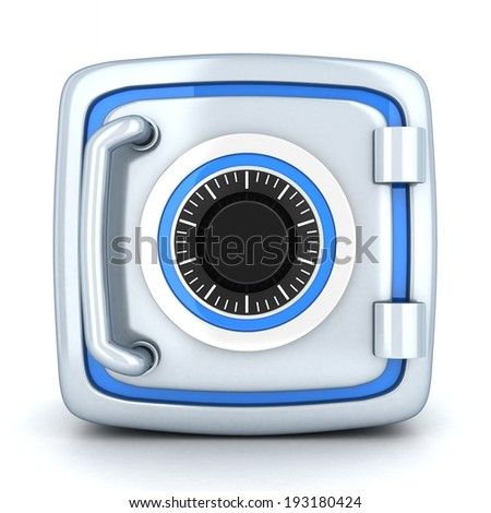 Small safe, closed (done in 3d) - stock photo