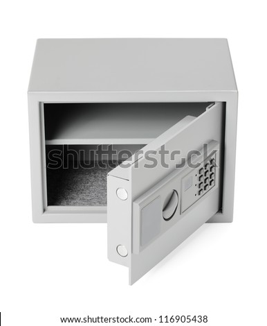 Small safe for home and office use, with digital lock.
