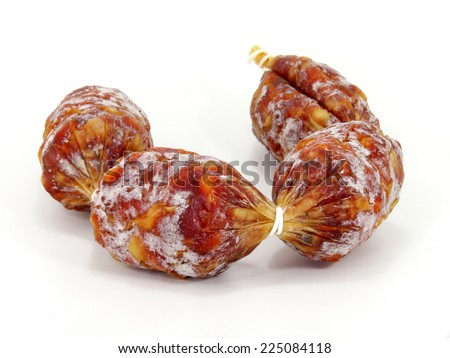 small salami  - stock photo