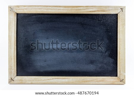 Small school blackboard with a wood frame