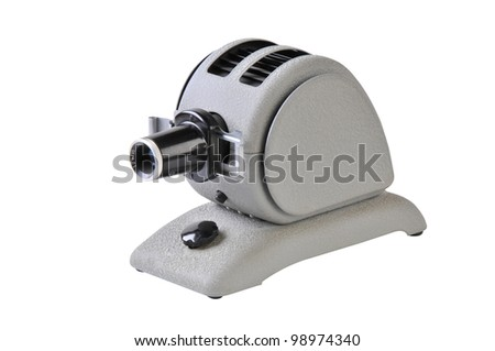 Small Slide Projector isolated on white with clipping path