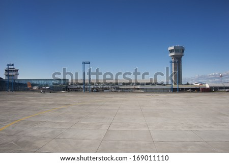 Small south american airfield with a tower