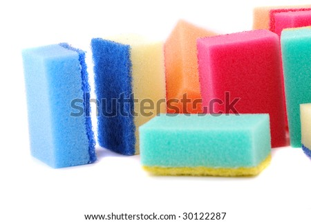 Small sponge for washing of ware and for cleaning in various conditions.