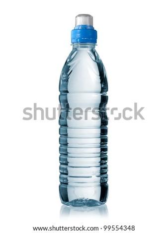 Small sport water bottle - stock photo