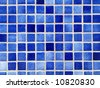 Small square blue tiles abstract pattern background. - stock photo