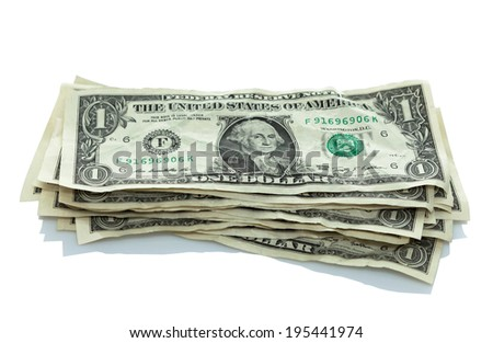 small stack of dollar bills