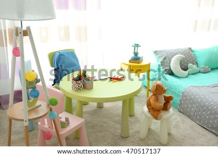 Small table in children room