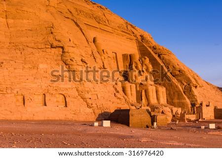 Small Temple of Nefertari, Abu Simbel, Egypt - stock photo