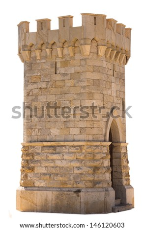 Small tower, isolated against background