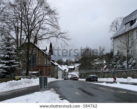 Small town in mountains in Germany - Clausthal-Zellerfeld.