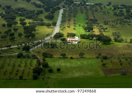 Small traditional church at Alentejo's countryside - stock photo