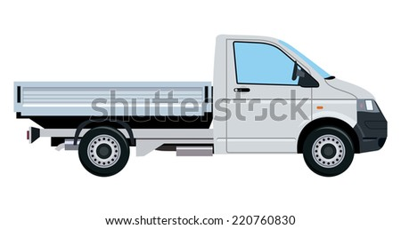 Small truck without cargo on a white background