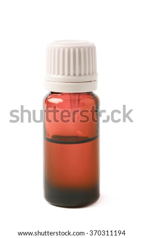 Small vial flask isolated - stock photo