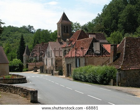 Small village in the south of France (Saint Felix, Dordogne) - stock photo