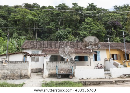 Small village on Ilha Grande island - stock photo