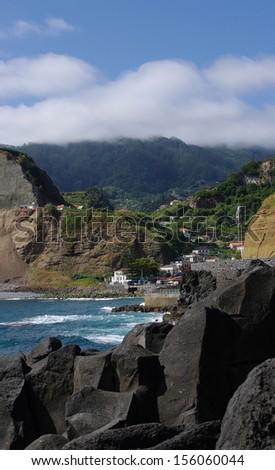 Small village on Madeira island, Portugal - stock photo