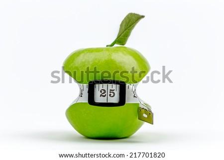 Small waist green apple - stock photo