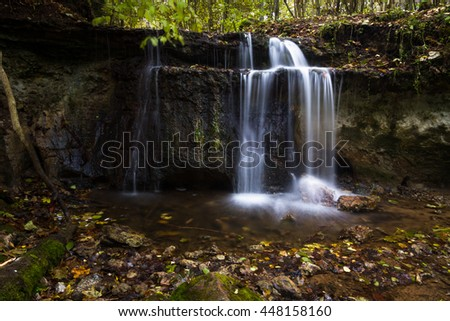 small waterfaal in gauja national park