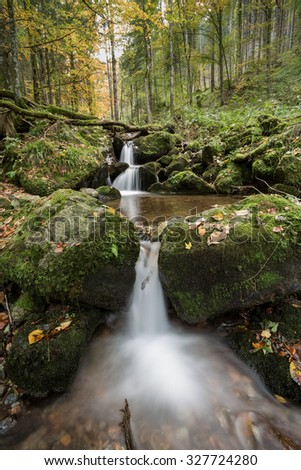 small waterfall in black forest, Germany - stock photo